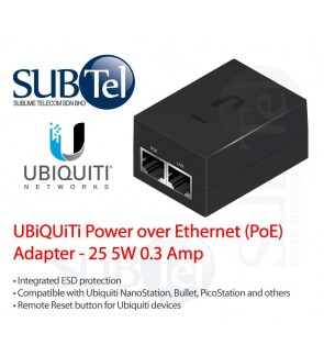POE-25-5W Ubiquiti Networks Power over Ethernet POE Adapter 25V UBNT Malaysia AirMax