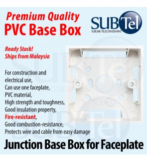 Junction Box for wall Faceplate PVC NUT Switch Base Box Socket Cover Surface Mounted