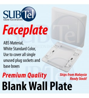 Blank Wall Plate Faceplate Mounted Blank Socket Cover Panel Whiteboard Outlet Plate Bezel Tool Face Plate Malaysia