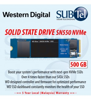 Western Digital Blue SN550 NVMe SSD 500GB M.2 Solid State Drive PCIe Gen 3 WD Read performance