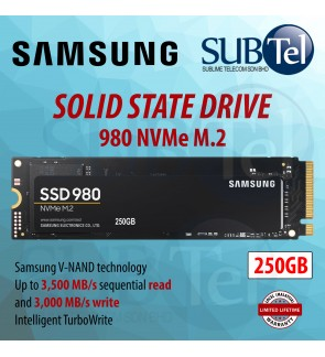 SAMSUNG 980 PCIe 3.0 NVMe M.2 SSD Solid State Drive 250GB 1TB Superior NVMe Read / Write performance