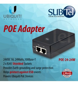 POE-24-24W Ubiquiti Networks Gigabit Power over Ethernet POE Adapter 24V 24W 1A UBNT for NS-5AC NS-5ACL AirMax AC